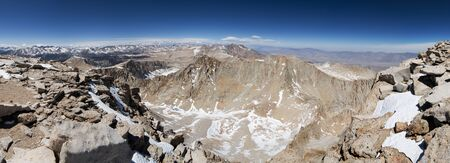 sierras: panorama from Mount Whitney looking north up the Sierra Crest