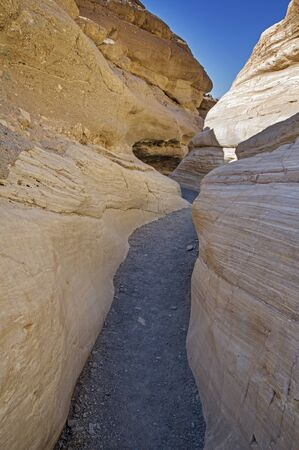 slot canyons: Mosaic Slot Canyon in Death Valley National Park Stock Photo