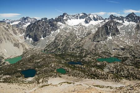 인접한 스카이 헤 이븐 피크에서 시에라 네바다 캘리포니아에 Palisade 산맥 스톡 콘텐츠