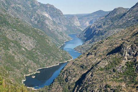 Hetch Hetchy Reservoir from the Grand Canyon of the Tuolumne River in Yosemite National Park