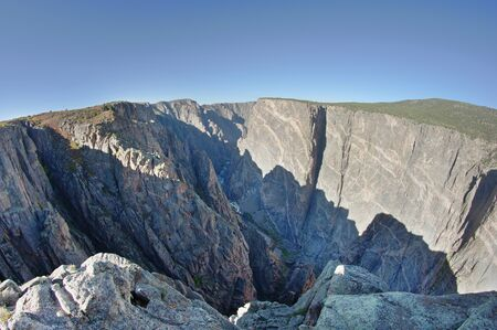 Black Canyon Of The Gunnison from Painted Wall View overlook Stock Photo