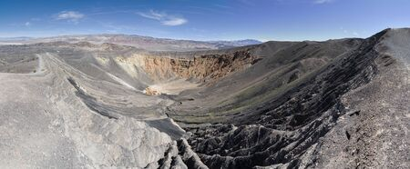 panorama of Ubehebe Crater in Death Valley National Park