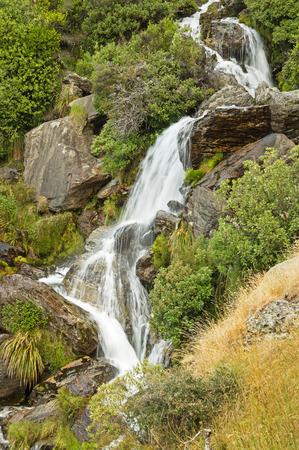 Waterfall on Wye Creek in New Zealand