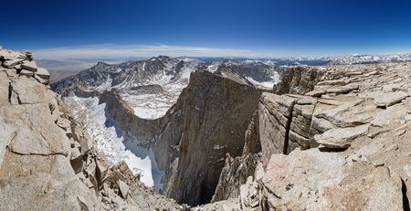 high sierra: panorama from the summit of Mount Whitney looking east and south