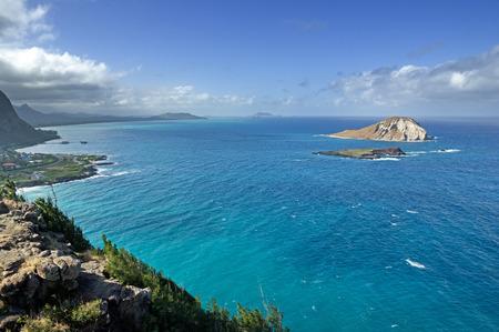 マカプウ岬からオアフ島の風の強い海岸の眺め 写真素材