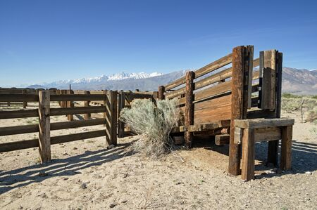 corall: corral and cattle chute in the Owens Valley of California