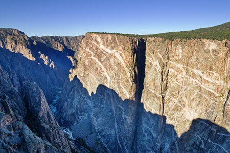 Black Canyon of the Gunnison River viewed from Painted Wall view Stock Photo