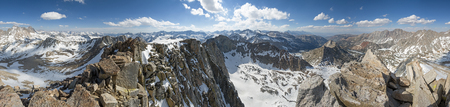 high sierra: 360 degree panorama from the summit of Mount Goode in the Sierra Nevada of California Stock Photo
