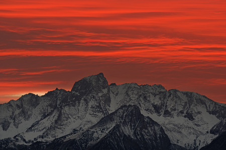 mount humphreys: red and orange sunset over Mount Humphreys in the eastern Sierra of California