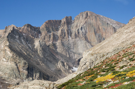 the diamond face on Longs Peak in Rocky Mountain National Park