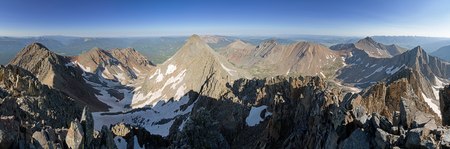 wilson: panorama from the summit of Mount Wilson in the San Juan Range of Colorado