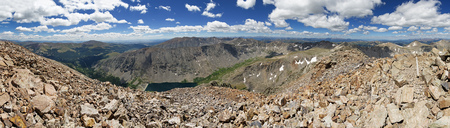 panorama from the summit of Quandary Peak in the Colorado Rocky Mountains