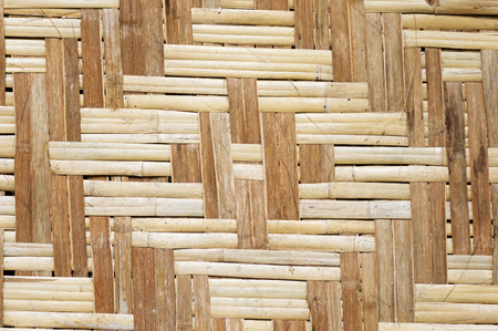 woven bamboo wall panel with diamond pattern