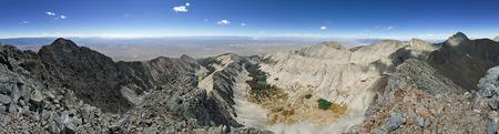 panorama from the summit of Little Bear Peak in the Colorado Sangre De Cristo Range Stock Photo