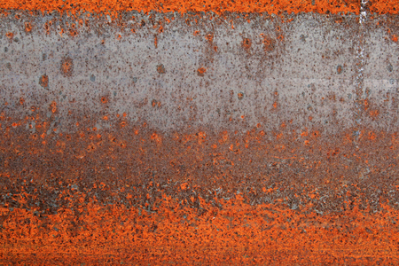 i beam: red rusted I-beam detail grunge for background texture