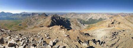 コロラド州のミズーリ山の頂上からのパノラマ 写真素材