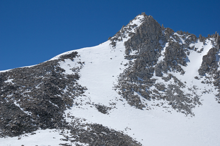 the mountain ridge of Pip-Squeek Spire in the Sierra Nevada Mountains