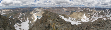 panorama from the summit of Mount Goddard in the Sierra Nevada Mountains of California