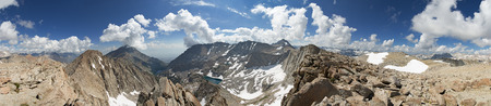 Panorama from Four Gables in the Sierra Nevada Mountains