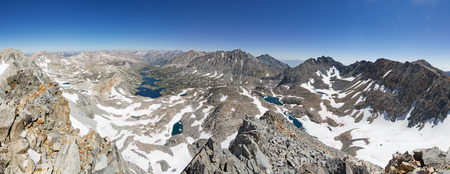 panorama from the summit of Falcor Peak looking north into Kings Canyon National Park