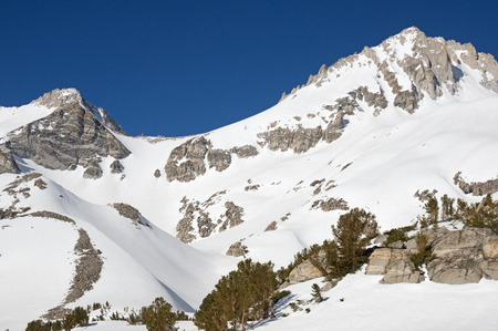 Mount Dade and the Hourglass Couloir in the Sierra Nevada Mountains