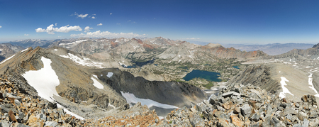 panorama of the Sierra Nevada Mountains from Woods Peak near Sawmill Pass