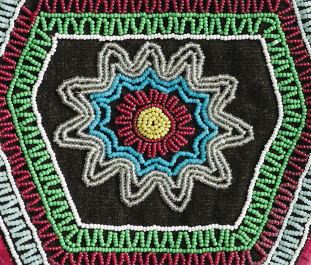 hand made American Indian bead work from 1846