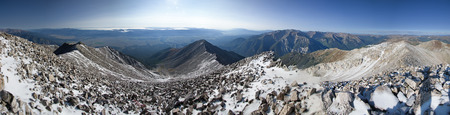 panorama from the summit of Mount Princeton in the Collegiate Peaks in Colorado