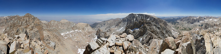 360 degree panorama taken from Comb Ridge between Mount Corcoran and Langley Peak in the Sierra Nevada of California