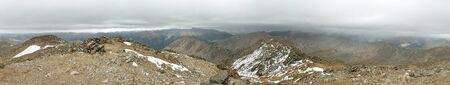 summit panorama from the 14336 foot summit of La Plata Peak in Colorado Stock Photo