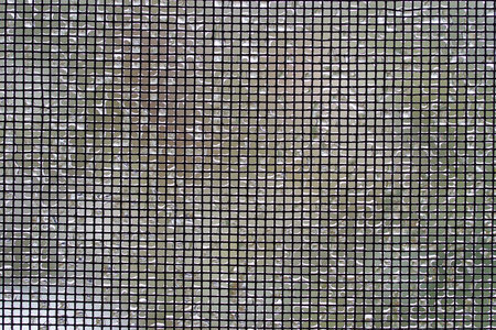 Screen mesh with ice on it Banco de Imagens - 98351400
