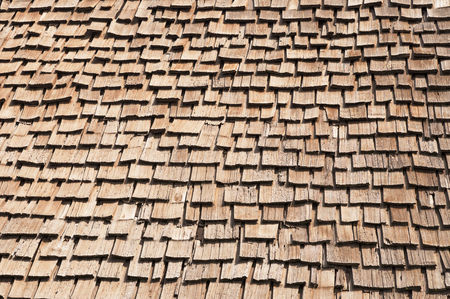 old wooden roof shakes background