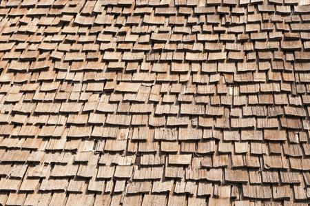 old wooden roof shakes background Banco de Imagens - 103235277