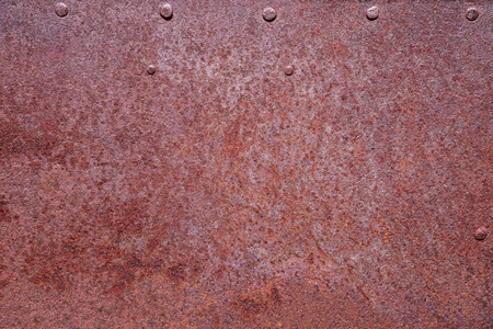 rusty metal background with a few rivets Banco de Imagens - 100141380