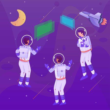 astronaut communication illustration