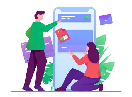 android mobile developer illustration Ilustração Vetorial