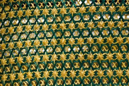 latticework: basketwork