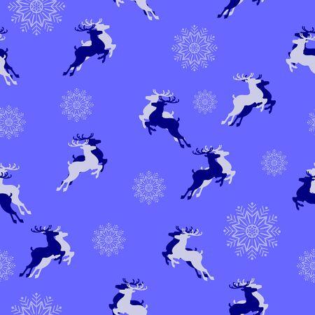 Christmas seamless pattern. Christmas Symbols. Vector illustration