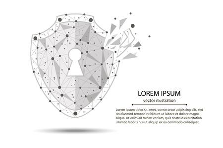 Koncepcja ikona technologii bezpieczeństwa cybernetycznego.