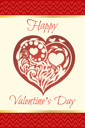 Valentines day card concept design. Ilustracja