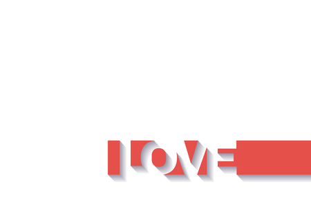 Happy Valentines day card with text LOVE Ilustracja