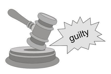 Judge Gavel icon. Trendy legal symbol for website. Logo illustration.Vintage emblem medal. Ilustracja