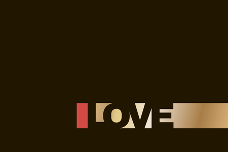 abstract text design LOVE