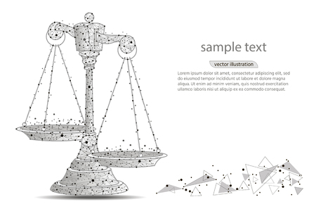 Scales of justice Ilustracja