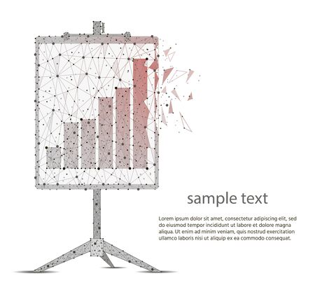 flip chart.business concept.  abstract polygonal image mash line and point. Digital graphics Zdjęcie Seryjne