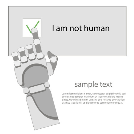 robot arm, captcha, neural network,white background