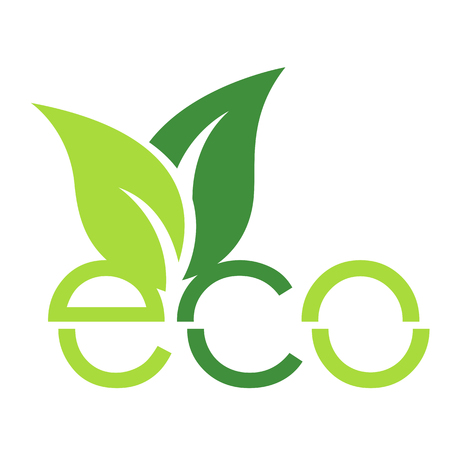eco icon, Flat design. Vector illustration.