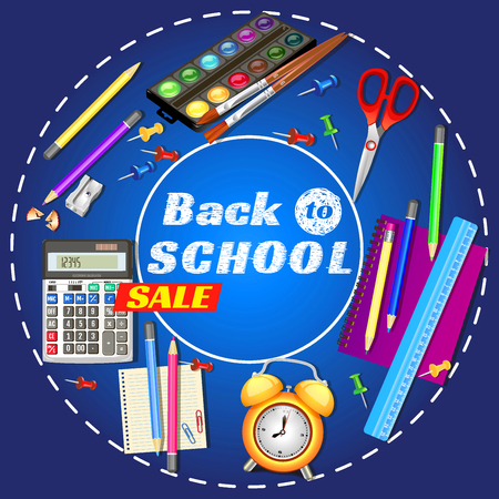 back to school. banner design. Templates with supplies tools. Place for your text. Place for your text. Layered realistic illustration.