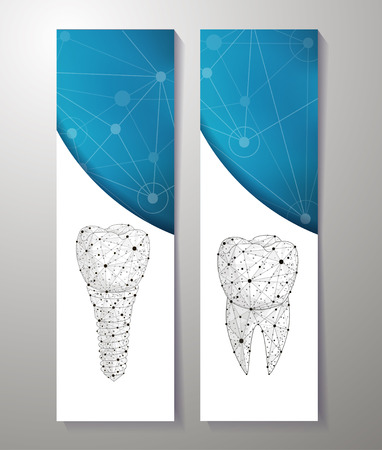 Healthy teeth and dental implant. banners design. Can use for marketing.