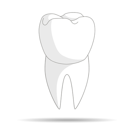 healthy tooth. dental clinic. icon for your design.